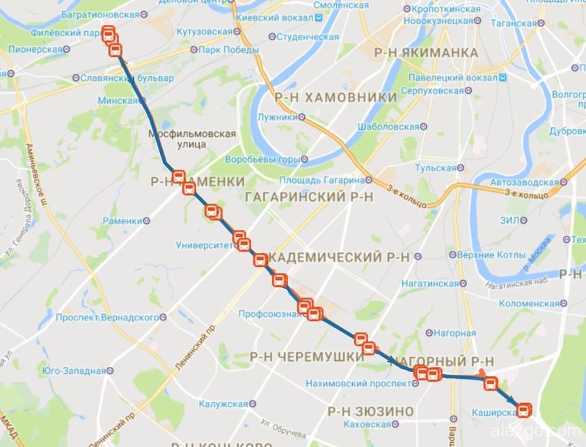908 автобус маршрут на карте