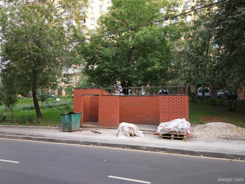 места для мусора кирпичные