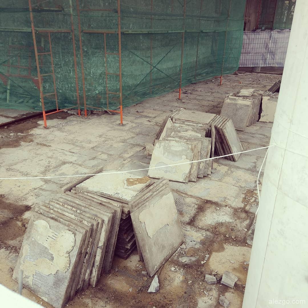 ремонт фасада вестибюля метро каширская